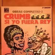 Fumetti: OBRAS COMPLETAS ROBERT CRUMB 2 - SI YO FUERA REY 3ª EDICION 2004- LA CUPULA. Lote 260412525