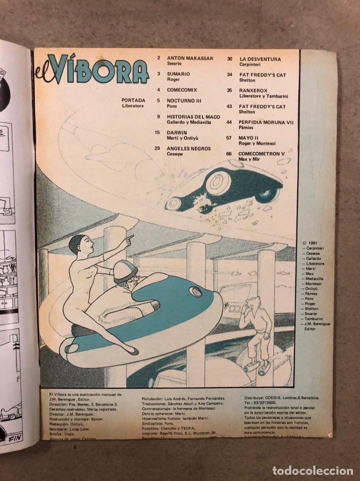 Cómics: EL VÍBORA COMIX N° 23 (EDICIONES LA CÚPULA 1981). LIBERATORE, CEESEPE, ONLIYU, PONS, ROGER, - Foto 2 - 261584495