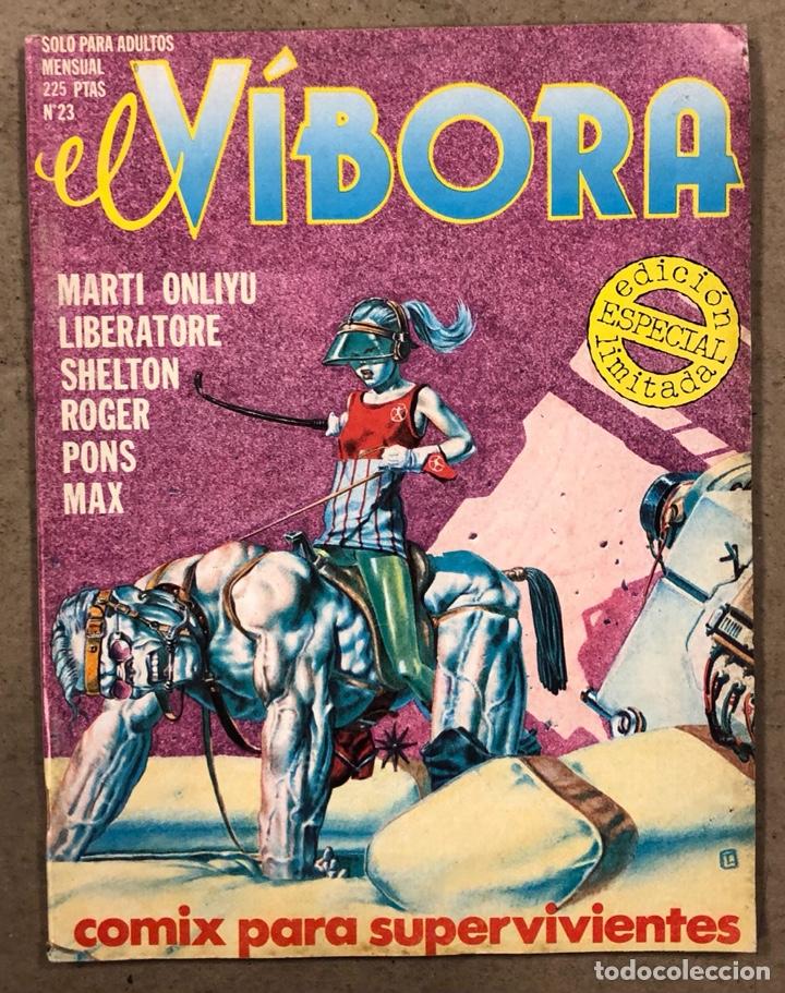 EL VÍBORA COMIX N° 23 (EDICIONES LA CÚPULA 1981). LIBERATORE, CEESEPE, ONLIYU, PONS, ROGER, (Tebeos y Comics - La Cúpula - El Víbora)