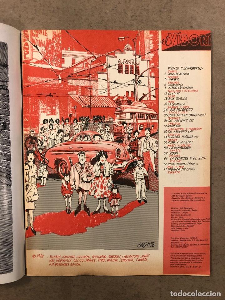 Cómics: EL VÍBORA COMIX N° 24 (EDICIONES LA CÚPULA 1981). SWARTE, CEESEPE, CALONGE, GALLARDO Y MEDIAVILLA - Foto 2 - 261585015