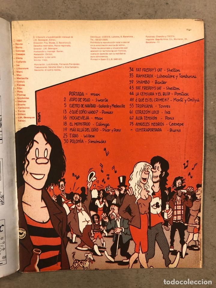 Cómics: EL VÍBORA COMIX N° 25 (EDICIONES LA CÚPULA 1981). SWARTE, CEESEPE, CALONGE, GALLARDO Y MEDIAVILLA, M - Foto 2 - 261585410