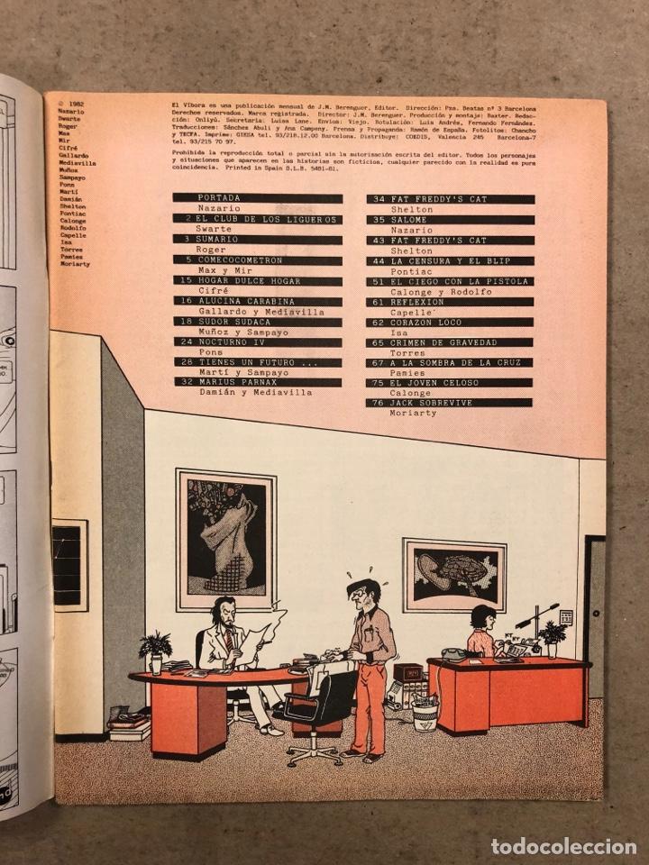Cómics: EL VÍBORA COMIX N° 27 (EDICIONES LA CÚPULA 1982). NAZARIO, CEESEPE, CIFRÉ, MAX Y MIR, GALLARDO - Foto 2 - 261586555