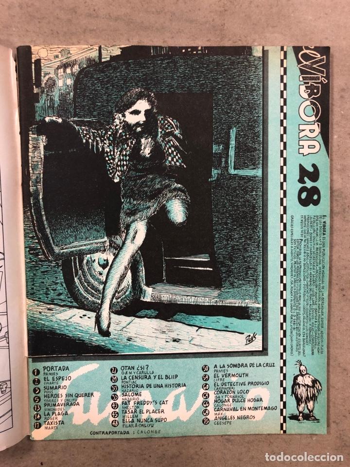 Cómics: EL VÍBORA COMIX N° 28 (EDICIONES LA CÚPULA 1982). PAMIES, SIMONIDES, ROGER, MARTÍ, NAZARIO,... - Foto 2 - 261587225