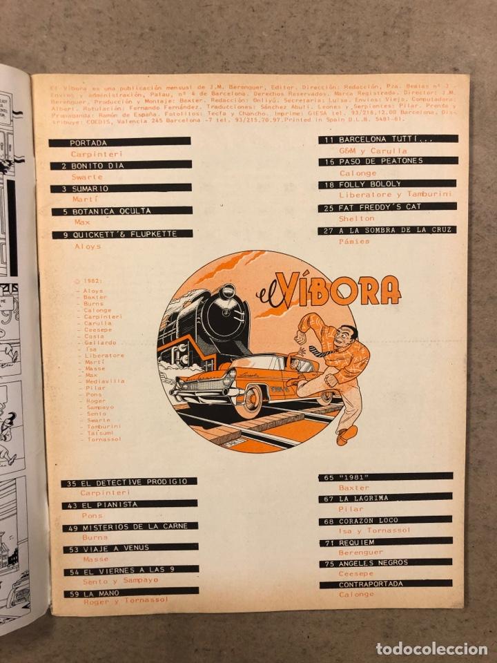 Cómics: EL VÍBORA COMIX N° 29 (EDICIONES LA CÚPULA 1982). CARPINTERI, MARTÍ, MAX, CEESEPE, LIBERATORE - Foto 2 - 261587915