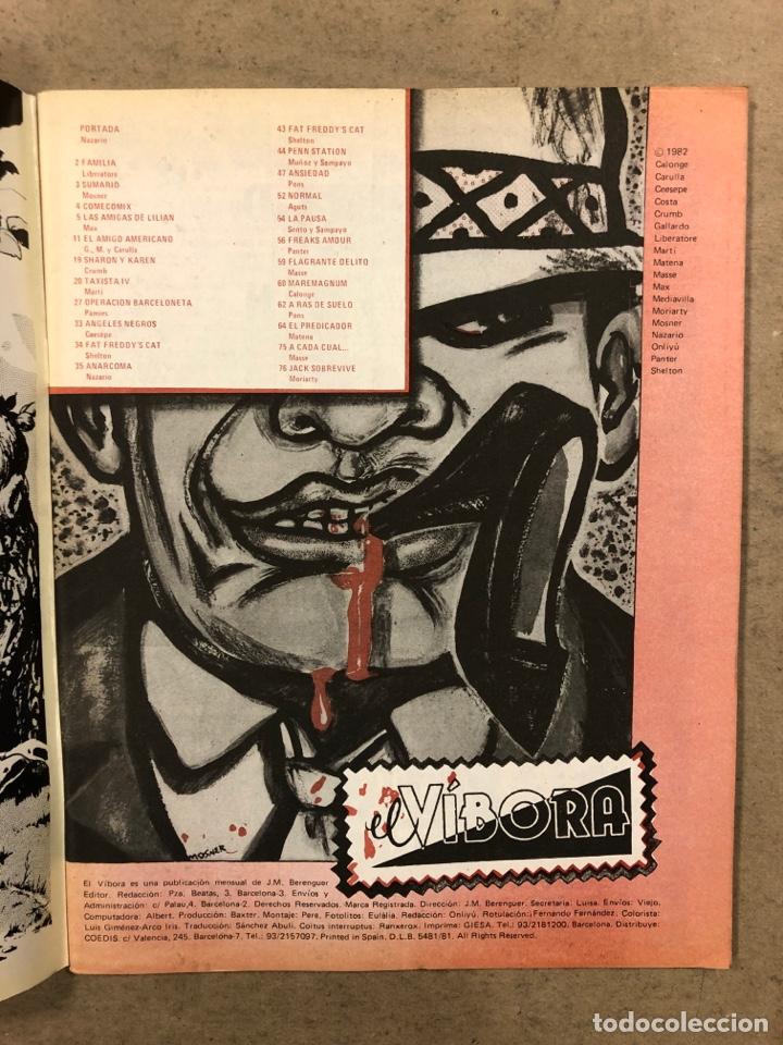 Cómics: EL VÍBORA COMIX N° 34 (EDICIONES LA CÚPULA 1982). NAZARIO, CRUMB, CEESEPE, MARTÍ, LIBERATORE,... - Foto 2 - 261590350