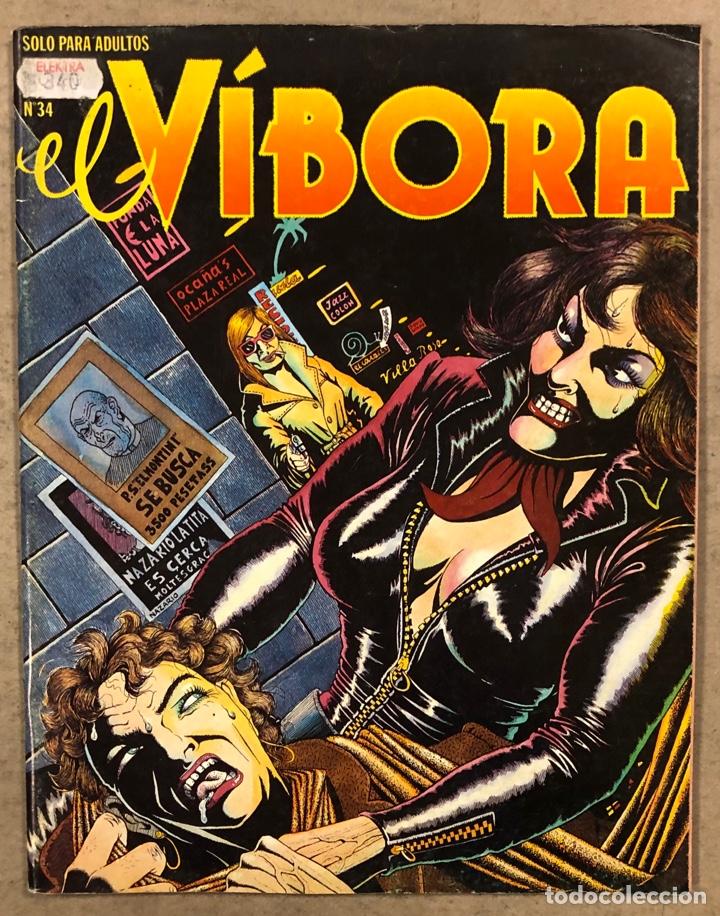 EL VÍBORA COMIX N° 34 (EDICIONES LA CÚPULA 1982). NAZARIO, CRUMB, CEESEPE, MARTÍ, LIBERATORE,... (Tebeos y Comics - La Cúpula - El Víbora)