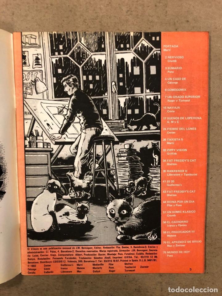 Cómics: EL VÍBORA COMIX N° 35 (EDICIONES LA CÚPULA 1982). MARTÍ, CRUMB, PONS, CALONGE, MARTÍ, MAX - Foto 2 - 261590900