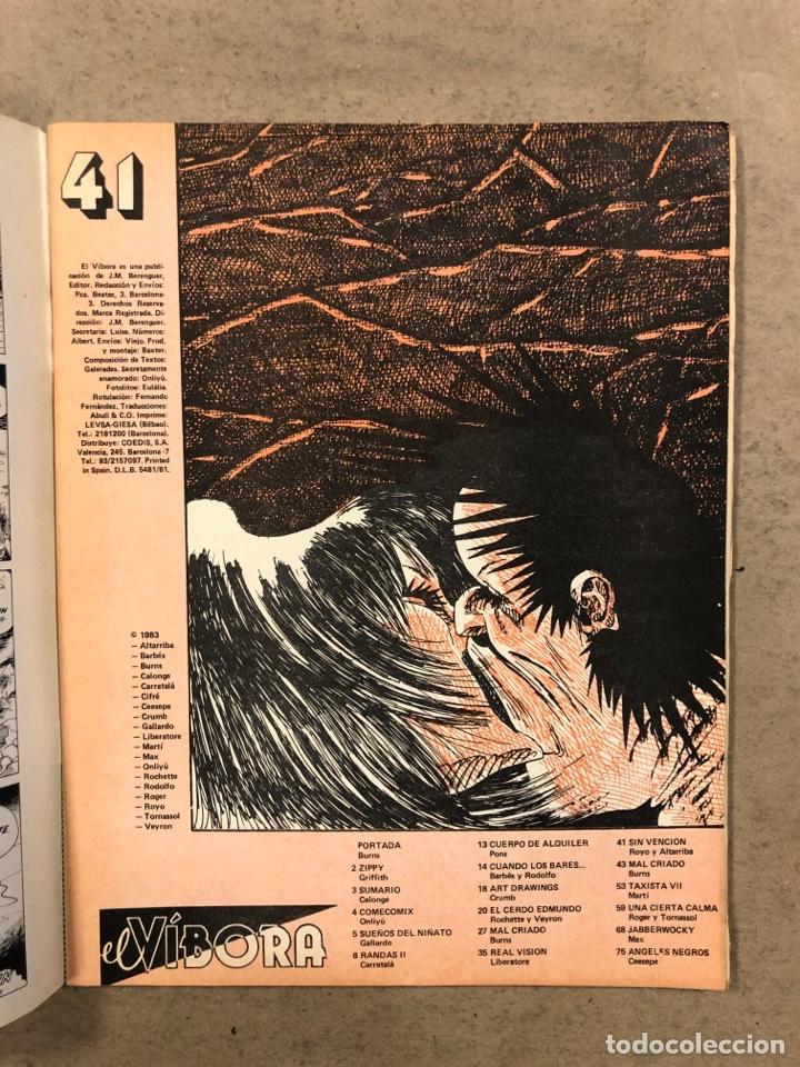 Cómics: EL VÍBORA COMIX N° 41 (EDICIONES LA CÚPULA 1983). ONLIYÚ, GALLARDO, PONS, CRUMB, CEESEPE, - Foto 2 - 261595690