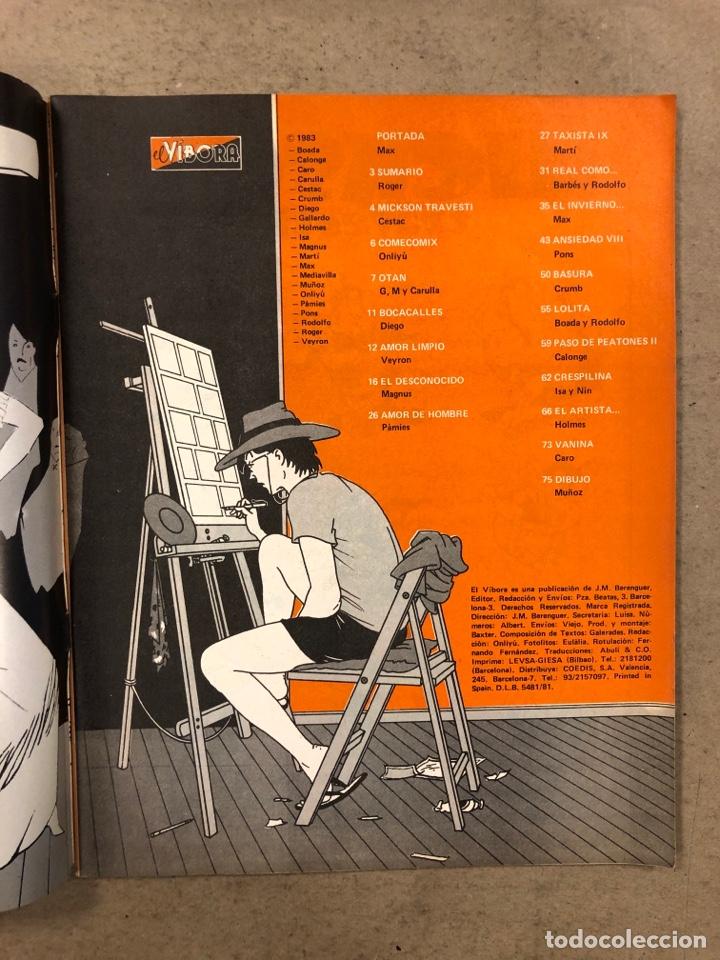 Cómics: EL VÍBORA COMIX N° 45 (EDICIONES LA CÚPULA 1983). MAX, ROGER, ONLIYÚ, MARTÍ, PONS, GALLARDO,.., - Foto 2 - 261596810
