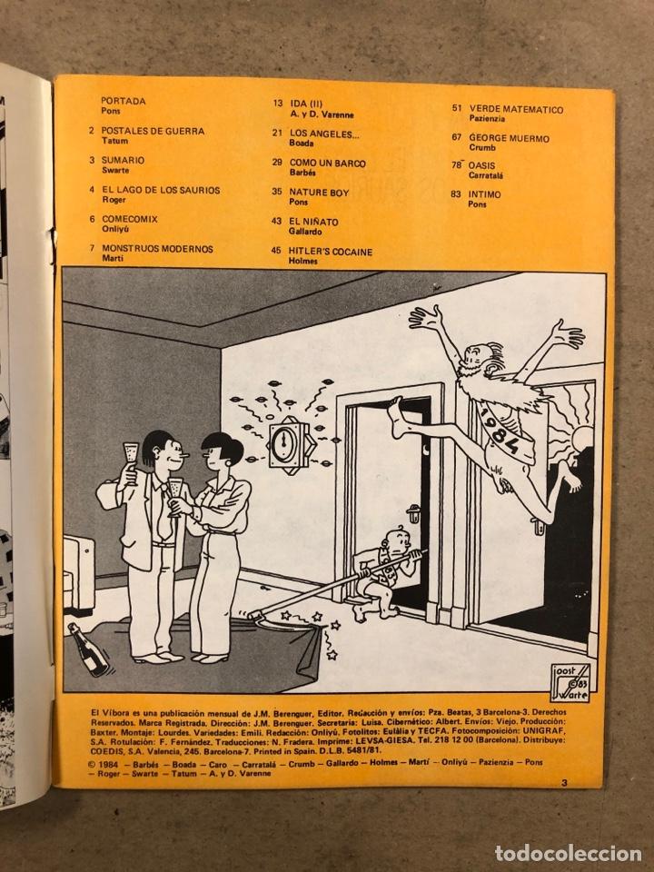 Cómics: EL VÍBORA COMIX N° 52 (EDICIONES LA CÚPULA 1983). PONS, ONLIYÚ, ROGER, MARTÍ, BARBÉS,... - Foto 2 - 261598460