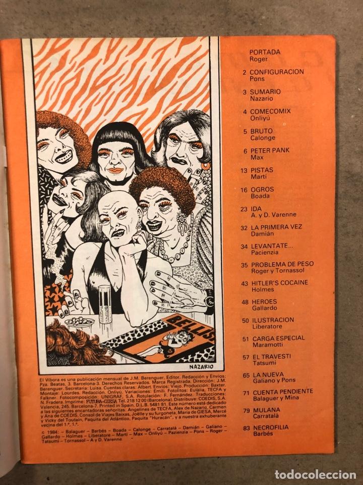 Cómics: EL VÍBORA COMIX N° 53 (EDICIONES LA CÚPULA 1983). ROGER, PONS, NAZARIO, MAX, GALLARDO, GALIANO - Foto 2 - 261598840