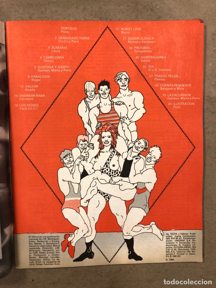 Cómics: EL VÍBORA COMIX N° 55 (EDICIONES LA CÚPULA 1984). PONS, ROGER, PÁMIES, ONLIYÚ, GALIANO,... - Foto 2 - 261600070