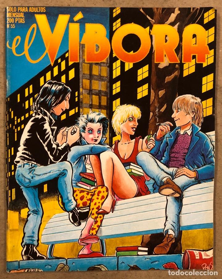 EL VÍBORA COMIX N° 55 (EDICIONES LA CÚPULA 1984). PONS, ROGER, PÁMIES, ONLIYÚ, GALIANO,... (Tebeos y Comics - La Cúpula - El Víbora)