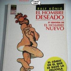 Cómics: EL HOMBRE DESEADO/NUEVO, RALF KONIG, ED. LA CÚPULA, OFERTA!!. Lote 263088815