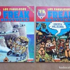 Cómics: LOS FABULOSOS FREAK BROTHERS 1 Y 2 - OBRAS COMPLETAS - SHELTON - LA CÚPULA. Lote 267801609