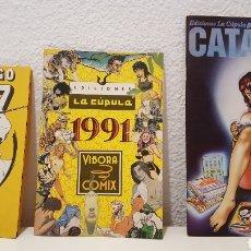 Cómics: LOTE CATALOGOS EDICIONES LA CÚPULA - VÍBORA COMIX - 1987, 1991 Y 1999. Lote 271896918