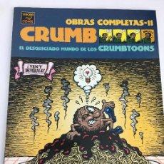 Cómics: EL DESQUICIADO MUNDO DE LOS CRUMBTOONS - CRUMB - OBRAS COMPLETAS 11 - 1ª ED. LA CÚPULA 2003 ¡NUEVO!. Lote 287721213
