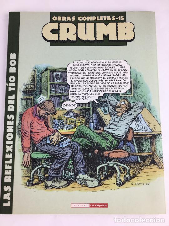 OBRAS COMPLETAS Nº 15. CRUMB. LAS REFLEXIONES DEL TIO BOB. LA CUPULA (Tebeos y Comics - La Cúpula - Comic USA)