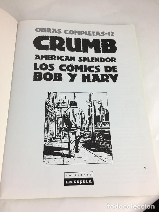 Cómics: OBRAS COMPLETAS 12. CRUMB. AMERICAN SPLENDOR .LA CUPULA. 1ª EDICION . 2004 - Foto 2 - 287723398
