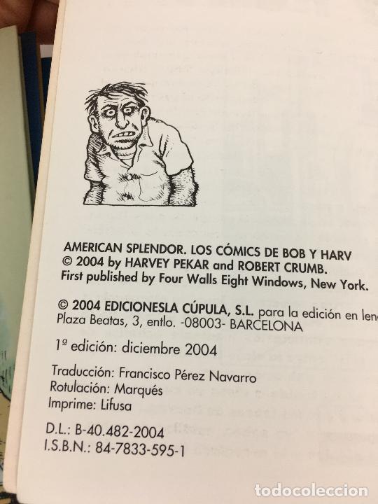 Cómics: OBRAS COMPLETAS 12. CRUMB. AMERICAN SPLENDOR .LA CUPULA. 1ª EDICION . 2004 - Foto 3 - 287723398