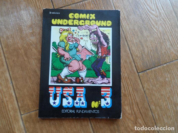 COMIX UNDERGROUND USA 3. EDITORIAL FUNDAMENTOS. 2ª EDICIÓN 1979 (Tebeos y Comics - La Cúpula - Comic USA)