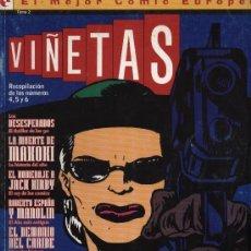Cómics: 'VIÑETAS', TOMO II. RECOPILACIÓN DE LOS NÚMEROS 4,5 Y 6. EDICIONES GLÉNAT. MÁS DE 250 PÁGINAS.. Lote 22223165