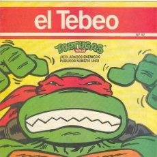 Cómics: EL TEBEO Nº 52 / TORTUGAS NINJA MORTADELO FILEMON MOTORRISAS RAFAEL DELIRANTA REBOLING STREET . Lote 5810161