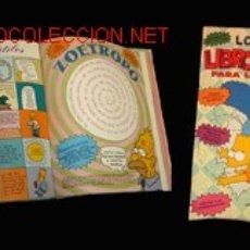 Cómics: MATT GROENING, LOS SIMPSON: LIBRO DE JUEGOS PARA LOS DÍAS DE LLUVIA. Lote 1544805