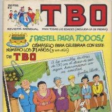 Cómics: TBO Nº 2 - EDICIONES B, 1988. Lote 22300115