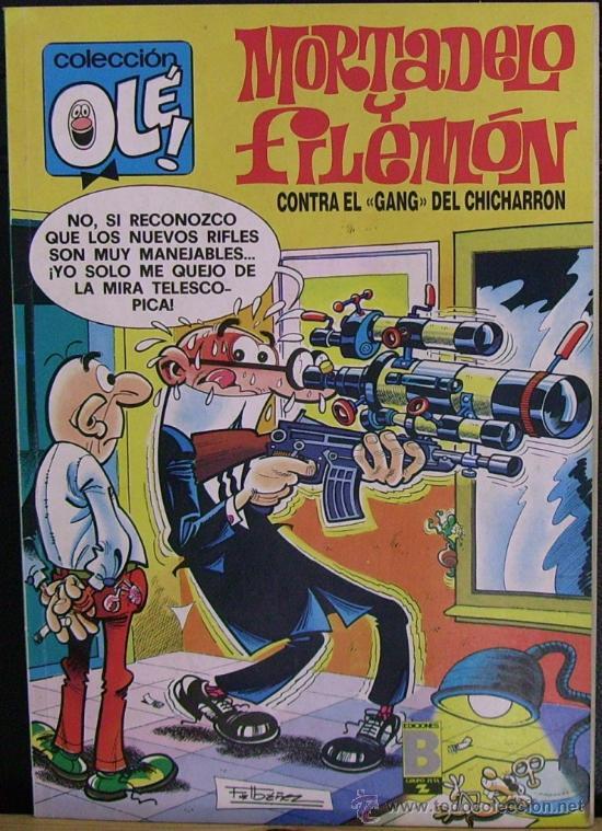 MORTADELO Y FILEMÓN CONTRA EL GANG DEL CHICHARRON. COLECCIÓN OLÉ! (NÚM. 153-M.83, 2A EDICIÓN, 1989) (Tebeos y Comics - Ediciones B - Clásicos Españoles)