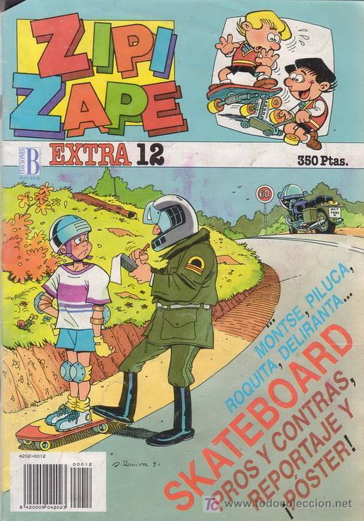 ZIPI Y ZAPE EXTRA Nº 12. CON POSTER A TODO COLOR DE ZIPI Y ZAPE. ESPECIAL SKATEBOARD. EDICIONES B. (Tebeos y Comics - Ediciones B - Clásicos Españoles)