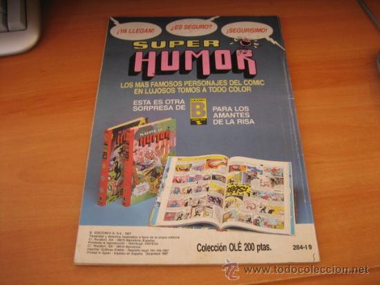Cómics: EL BOTONES SACARINO Nº 284-I 9 COLECCION OLE EDICIONES B 1987 - Foto 2 - 19708917