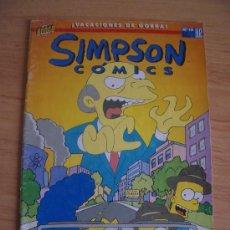 Cómics: SIMPSON COMICS Nº10. ¡VACACIONES DE GORRA! BONGO. EDICIONES B, 1997. Lote 22043552