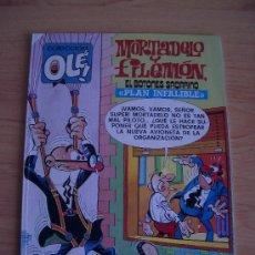 Cómics: COL. OLE. MORTADELO Y FILEMON, EL BOTONES SACARINO. PLAN INFALIBLE. 1ª EDICION, 1988. LITERACOMIC.. Lote 22440462