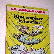 Cómics: QUE EMPIECE LA FUNCIÓN. LA JUNGLA LOCA Nº 2. TEXTO GODARD, DIBUJOS MIC DELINX. EDICIONES B, 1990.. Lote 24472463