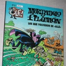 """Cómics: MORTADELO Y FILEMÓN : LOS QUE VOLVIERON DE """"ALLA"""". COLECCIÓN OLE. Lote 171631690"""