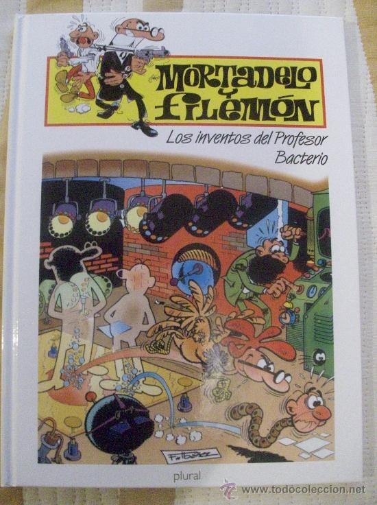 TOMO MORTADELO Y FILEMON LOS INVENTOS DEL PROFESOR BACTERIO, TAPA DURA (Tebeos y Comics - Ediciones B - Humor)