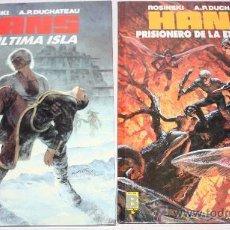 Cómics: HANS: TOMO 1(LA ULTIMA ISLA) + TOMO 2(PRISIONERO DE LA ETERNIDAD).. Lote 29974324