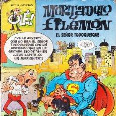 Comics: MORTADELO Y FILEMON EL SEÑOR TODOQUISQUE N122 1EDICION 1996. Lote 28787240