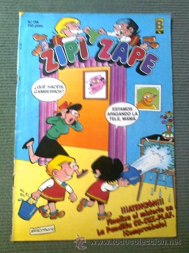 ZIPI Y ZAPE. CÓMIC NÚMERO 114 DE EDICIONES B. AÑO 1989. (Tebeos y Comics - Ediciones B - Humor)