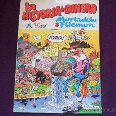 Cómics: FRANCISCO IBAÑEZ DIBUJA A MORTADELO Y FILEMON EN LA HISTORIA DEL DINERO. LA CAIXA 1989. RUSTICA.. Lote 32809864