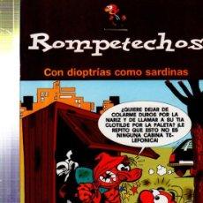 Cómics: TEBEO ROMPETECHOS, CON DIOPTRÍAS COMO SARDINAS, EDICIONES B. Lote 33382551
