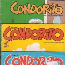 Cómics: CONDORITO, LOTE 7 EJEMPLARES -EDITADOS : AÑOS 70 - 80. Lote 37979470