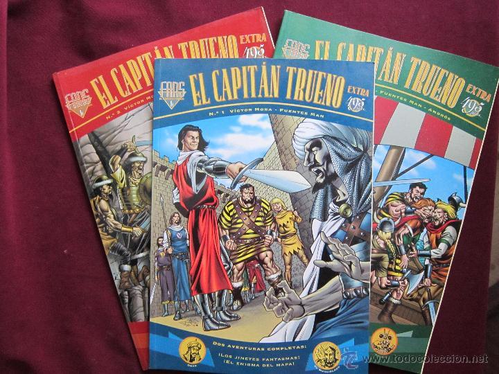 FANS EL CAPITÁN TRUENO EXTRA NUMS. 1, 2 Y 3. VICTOR MORA, FUENTES MAN. EDICIONES B. MBE (Tebeos y Comics - Ediciones B - Clásicos Españoles)