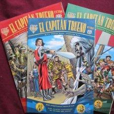 Cómics - Fans El Capitán Trueno Extra Nums. 1, 2 y 3. Victor Mora, Fuentes Man. Ediciones B. MBE - 42328989