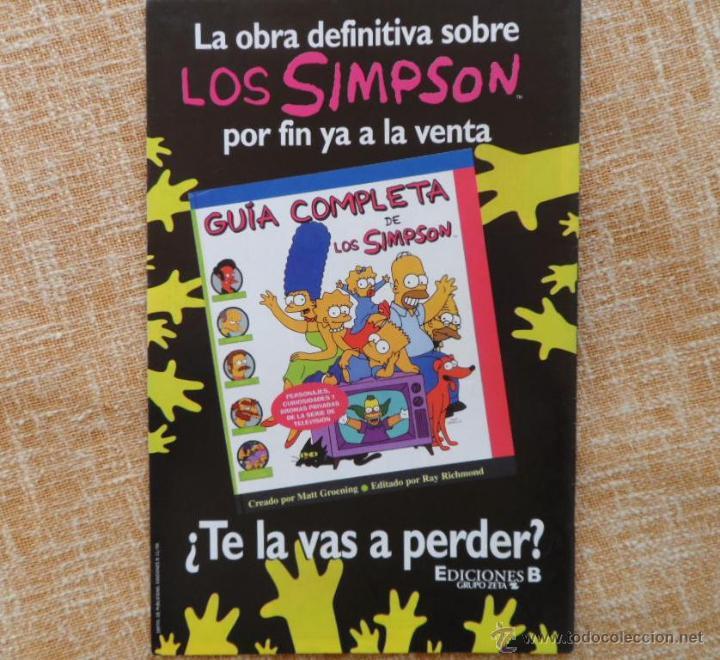 Cómics: Simpson Comics Comic, número 29, Ediciones B, Bongo Group, Grupo Zeta, autor Matt Groening, año 1999 - Foto 5 - 43791798