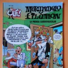 Cómics: MORTADELO Y FILEMÓN. LA PRENSA CARDIOVASCULAR. OLÉ! Nº 118 - FRANCISCO IBÁÑEZ. Lote 43805096