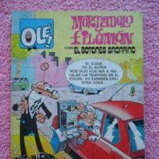 Cómics: COLECCION OLE 248 M39 MORTADELO Y FILEMÓN EDICIONES B 1987 CON EL BOTONES SACARINO EDICION 2ª. Lote 45179319