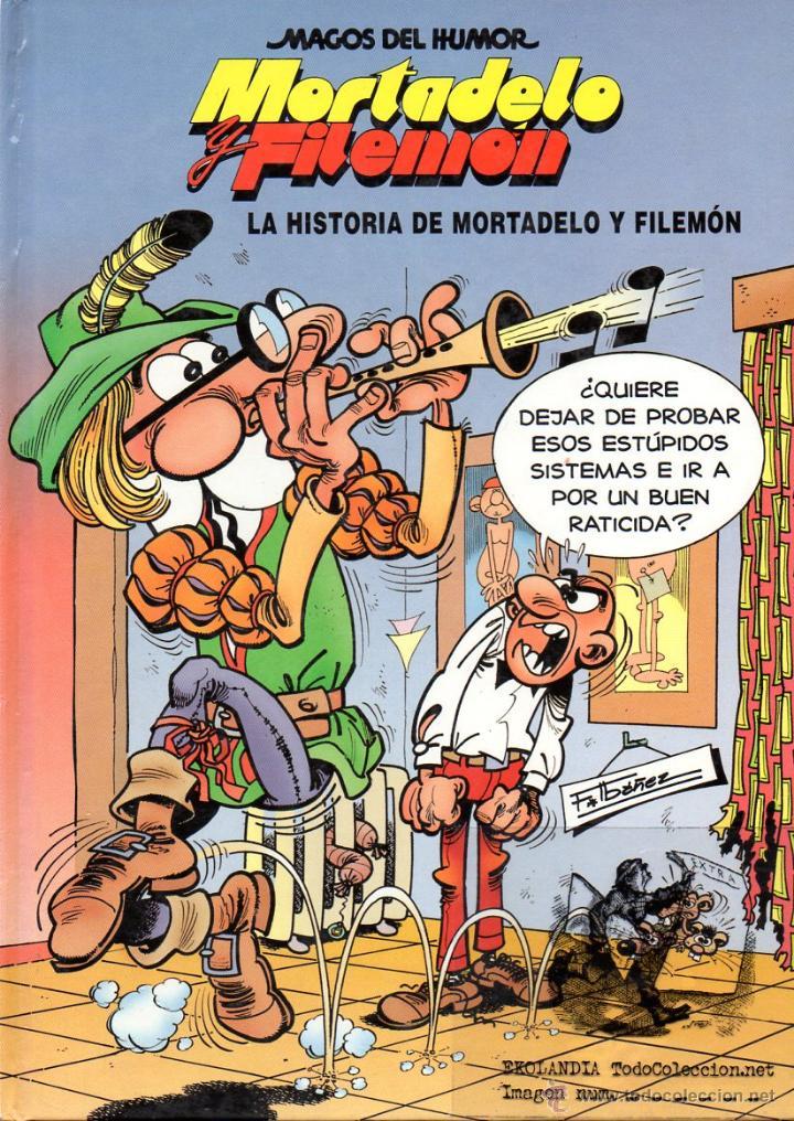 MORTADELO Y FILEMON EKL LA HISTORIA DE MORTADELO Y FILEMON. MAGOS DEL HUMOR NUMERO 15 TAPA DURA (Tebeos y Comics - Ediciones B - Clásicos Españoles)