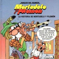 Cómics: MORTADELO Y FILEMON EKL LA HISTORIA DE MORTADELO Y FILEMON. MAGOS DEL HUMOR NUMERO 15 TAPA DURA. Lote 45452559